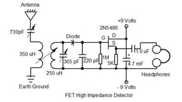Surprising Diode Radio Circuit Diagram For Low Impedance Headphones Online Wiring Database Gramgelartorg